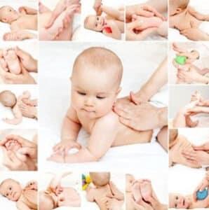 ماساژ کودک برای درمان نفخ