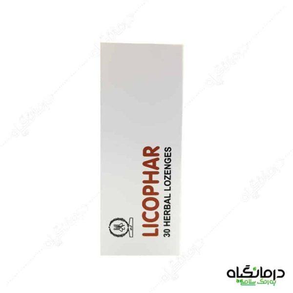 قرص گیاهی گلودرد لیکوفار گل دارو